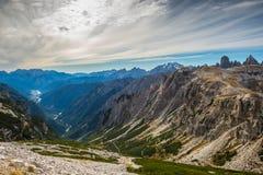 Dolomia in autunno, montagna del sud del Tirolo, turismo di Italien Fotografia Stock Libera da Diritti