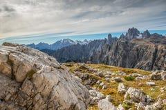 Dolomia in autunno, montagna del sud del Tirolo, turismo di Italien Immagine Stock Libera da Diritti