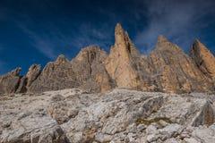 Dolomia in autunno, montagna del sud del Tirolo, turismo di Italien Immagine Stock