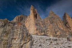 Dolomia in autunno, montagna del sud del Tirolo, turismo di Italien Immagini Stock Libere da Diritti