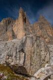 Dolomia in autunno, montagna del sud del Tirolo, turismo di Italien Immagini Stock