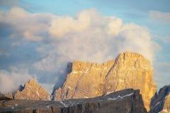 Dolomia del picco di montagna delle alpi Fotografia Stock Libera da Diritti