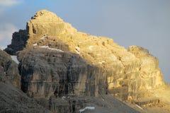 Dolomia del picco di montagna delle alpi Fotografie Stock