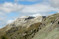 Dolomia delle montagne di Snowy - le alpi italiane Immagini Stock Libere da Diritti