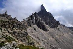 Dolomia di paesaggio - Monte Paterno Fotografia Stock