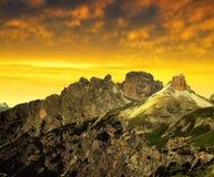 Dolomia di Sesto, Tirolo del sud, Italia Immagine Stock Libera da Diritti
