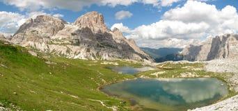 Dolomia di Sesto; Valle di Altensteiner Fotografia Stock
