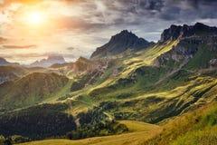 Dolomia Dolomiti, passaggio del parco nazionale di Pordoi Provincia Bellun Fotografia Stock