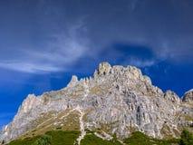Dolomia, gruppo di Sella, Tirolo del sud, Italia Fotografia Stock Libera da Diritti