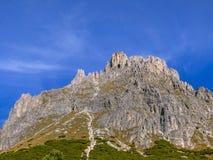 Dolomia, gruppo di Sella, Tirolo del sud, Italia Fotografie Stock
