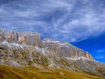 Dolomia, gruppo di Sella, Tirolo del sud, Italia Immagini Stock Libere da Diritti