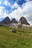 Dolomia - montagna di Langkofel Fotografie Stock Libere da Diritti