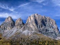 Dolomia, passaggio Tirolo del sud, Italia di Sella Immagini Stock