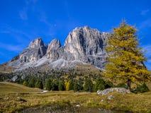 Dolomia, passaggio Tirolo del sud, Italia di Sella Immagini Stock Libere da Diritti