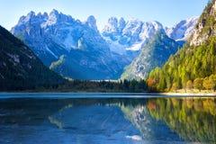 Dolomia, punto di vista di Monte Cristallino Fotografie Stock Libere da Diritti