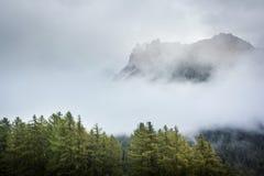 Dolomia in una nebbia Immagine Stock Libera da Diritti