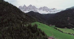 Dolomiet Italiaanse Alpen stock videobeelden