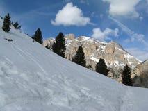 Dolomiet met sneeuw Stock Afbeelding