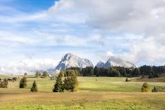 Dolomiet Seiser Alm, Zuid-Tirol Stock Afbeeldingen