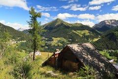 Dolomiet - vallei Cordevole Stock Afbeeldingen