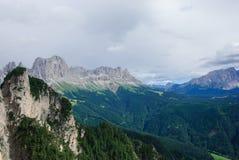 Dolomiet van natuurreservaat sciliar-Rosengarten Royalty-vrije Stock Afbeeldingen