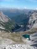 Dolomiet - Zuid-Tirol - Tre Cime - Drei Zinnen Stock Foto