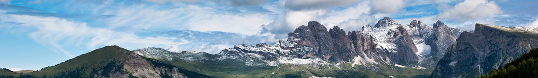 dolomitów Italy panorama Zdjęcia Royalty Free