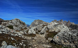 Dolomitów szczytów panorama Obraz Royalty Free