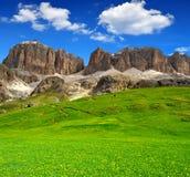 Dolomitów szczyty, Sella obraz royalty free