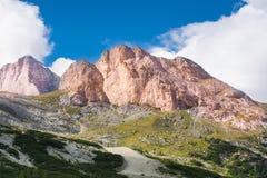 DOLOMIT-ALPEN, ITALIEN Stockbild