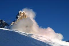 Dolomit-Alpen, Süd-Tirol, Italien Cimon-della Pala oder Cimone mit Wolken in Pale di San Martino Group Lizenzfreie Stockfotografie