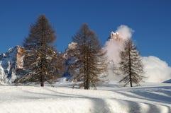 Dolomit-Alpen, Süd-Tirol, Italien Cimon-della Pala oder Cimone mit Wolken in Pale di San Martino Group Stockfoto