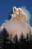 Dolomit-Alpen, Süd-Tirol, Italien Cimon-della Pala oder Cimone mit Wolken in Pale di San Martino Group Lizenzfreies Stockbild