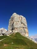 Dolomit-Berge - Cinque Torri Stockbilder