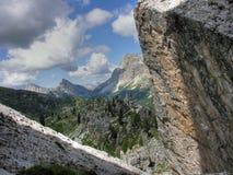 Dolomit-Berge, Italien, Sommer 2009 Lizenzfreies Stockfoto