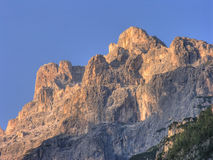 Dolomit-Berge am Nachmittag, Italien Lizenzfreies Stockfoto