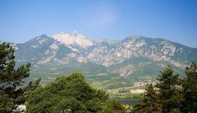 Dolomit góry krajobraz blisko Trento, Włochy Zdjęcia Stock