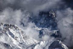 Dolomit góry, widok od passo San Pellegrino zdjęcia stock
