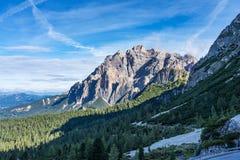 Dolomit g?ry, Passo Valparola, Cortina d ?Ampezzo, W?ochy obraz royalty free