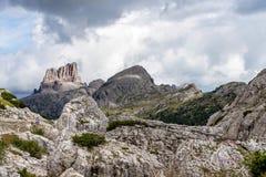 Dolomit g?ry, Passo Valparola, Cortina d ?Ampezzo, W?ochy obrazy royalty free