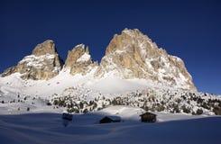 Dolomit im Winter Stockbild