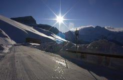 Dolomit im Winter Lizenzfreies Stockbild