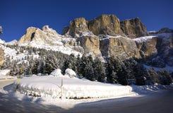 Dolomit im Winter Stockbilder