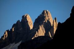 Dolomit, Italien, Berge zwischen den Regionen von Venetien und Alto Adige lizenzfreie stockfotografie