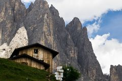 Dolomit, Italien, Berge zwischen den Regionen von Venetien und Alto Adige stockbild