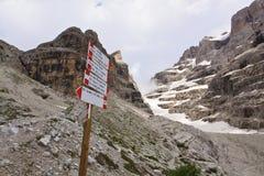 Dolomit - Madona di Campiglio Lizenzfreie Stockfotos