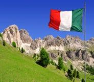 Dolomit osiąga szczyt Rosengarten obraz stock