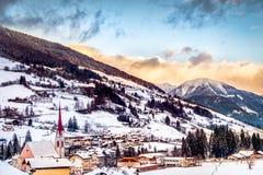 Dolomit panoramy trentino Adige ridanna kościół altowy val mountai Zdjęcie Royalty Free