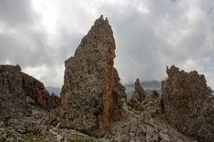 Dolomit ` s Landschaft - Col. Pradat stockbild