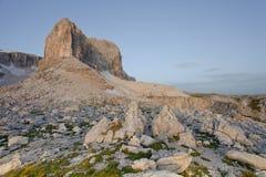 Dolomit sehen von der Sella-Gruppe - ITALIEN an Lizenzfreie Stockfotografie